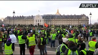 Yellow Vests protest in Paris, Act 10
