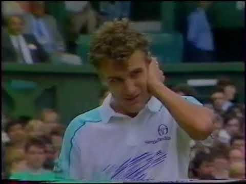 Miloslav Mecir Vs Mats Wilander Wimbledon 1988 Quarterfinal Youtube