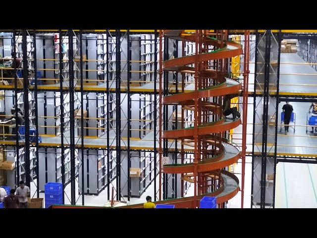CANOPUS Gravity Spiral Conveyor for Vertical Movement of Items in Fulfillment Center & Warehouse