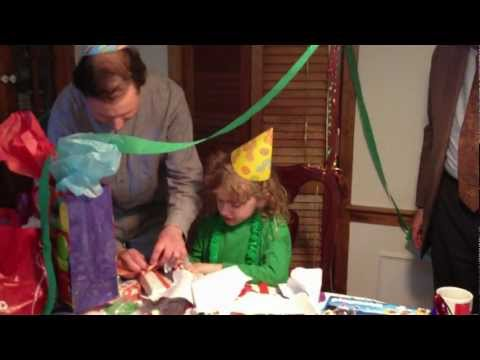 Ridgely's 7th Birthday party Pt 3- the singing, candles, & open presents