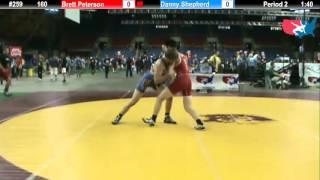 Fargo 2012 160 Round 1: Brett Peterson (Minnesota) vs. Danny Shepherd (Utah)