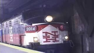 FL-9/F-10 locos Leaving Grand Central (2000)