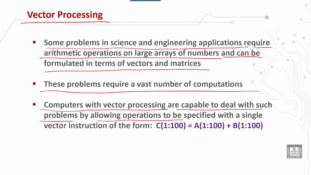 Computer Organization 2 | C2 - L7 | Vector processing