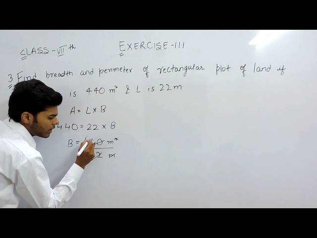 Exercise 11.1 - Question 3 NCERT Solutions for Class 7th Maths Perimeter and Area