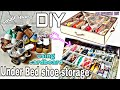 DIY Under BED Shoe Organizer With DUST Gaurd For Small Space | Using Waste Material | MY SPARKLE DIY