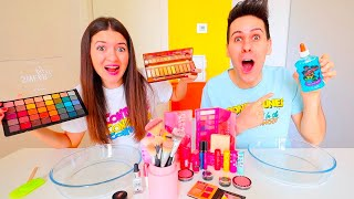 MAKE UP SLIME CHALLENGE!