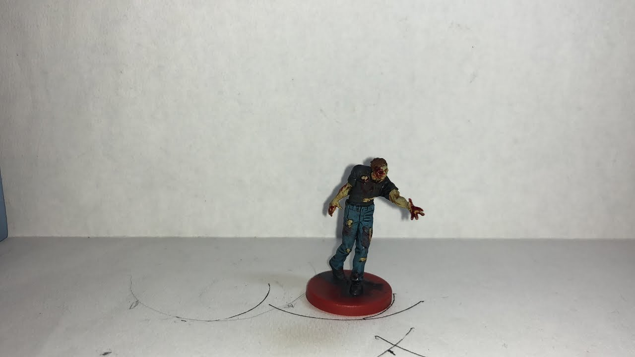 Resident Evil 2 The Board Game Male Zombie Version 1 Quick Paint
