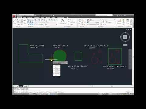 AutoCAD 2011 Tutorial - Measuring Volume - YouTube