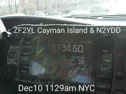 17m HF DX. N2YDD/mobile (NYC) with ZF2YL (Cayman Islands) Dec10 2017