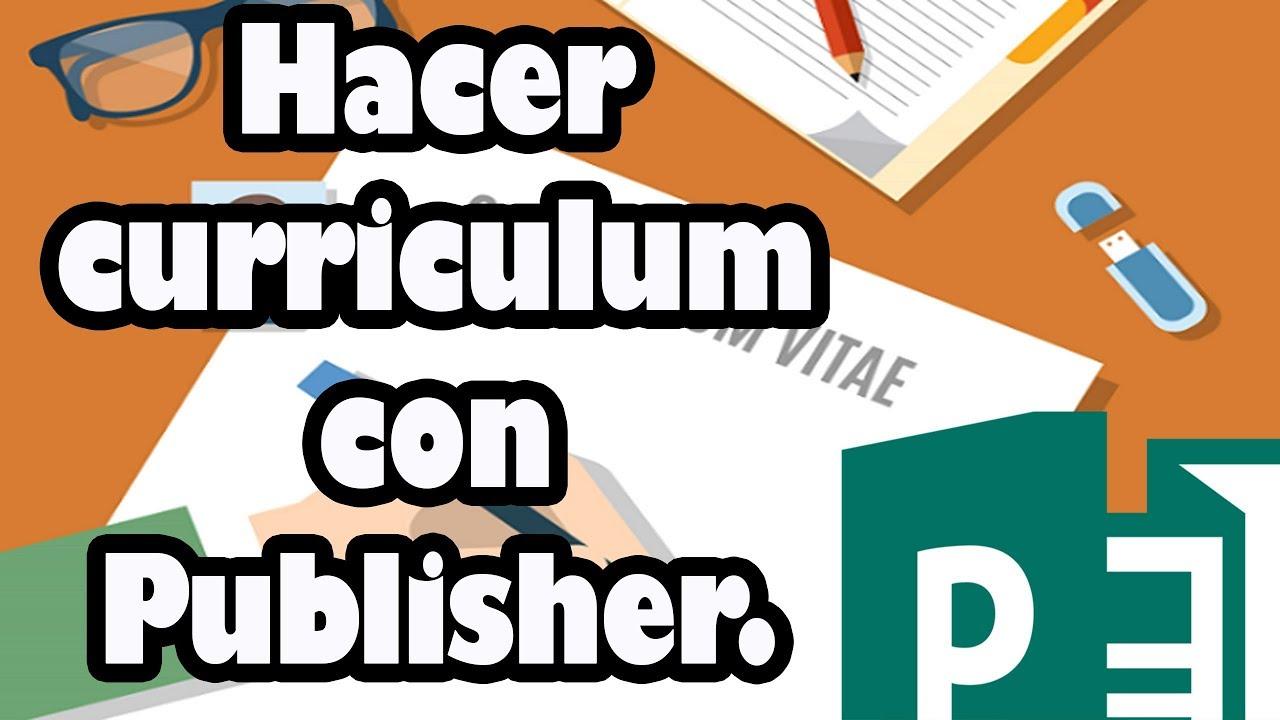 curriculum vitae hecho en publisher