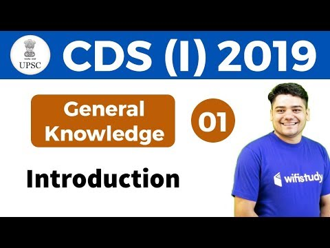 4:00 PM - UPSC CDS (I) 2019 | GK by Sandeep Sir | Introduction