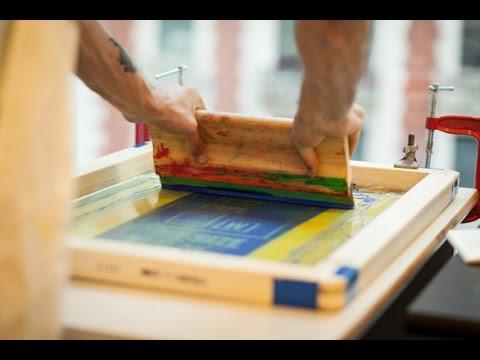 Corso di Serigrafia  Incisione del Telaio Serigrafico
