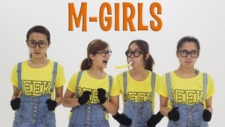 M-GIRLS VS MINION BANANA SONG [OFFICIAL VIDEO](Facebook: http://www.facebook.com/StarmediaDistribution Starmedia Distribution Sdn Bhd Starmedia Entertaiment Sdn Bhd Starmedia Music Center Eterno ..., 2013-07-31T06:00:14.000Z)