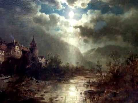 Dipinto antico Notturno Inglese Olio su tela English Night Oil on canvas  YouTube