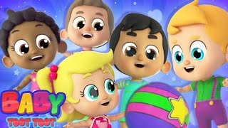 Five Little Babies Jumping On The Bed | Nursery Rhymes and Kids Songs with Baby Toot Toot