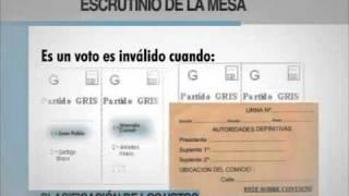 Video de capacitacion de autoridades de mesa Parte 3