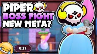 PIPER Boss Fight NEW META? - Piper Trolling! - Piper Boss Fight Gameplay! - Brawl Stars
