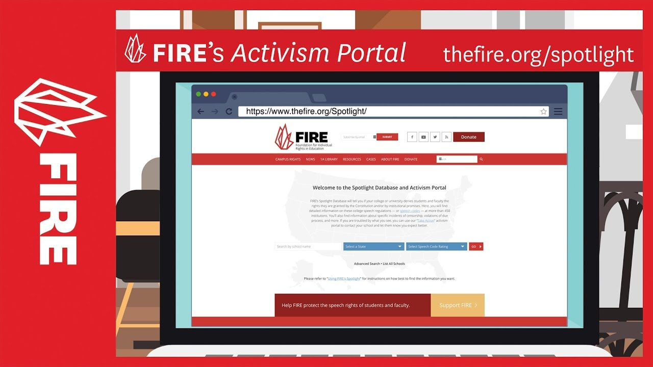 FIRE's activism portal is the fastest way to protect free speech on campus