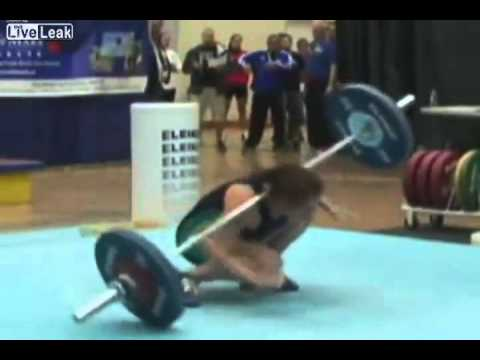 Female Clean And Jerk Fail Youtube