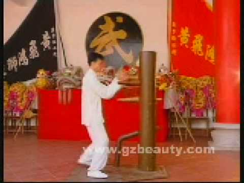 Wing Chun Quan Wood Figure stake Video