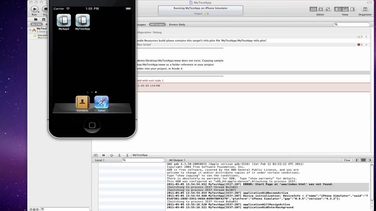 phonegap installer xcode 4 template hd youtube