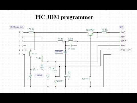 How to programming pic microcontroller Simple JDM programmer ... Jdm Programmer Schematic on