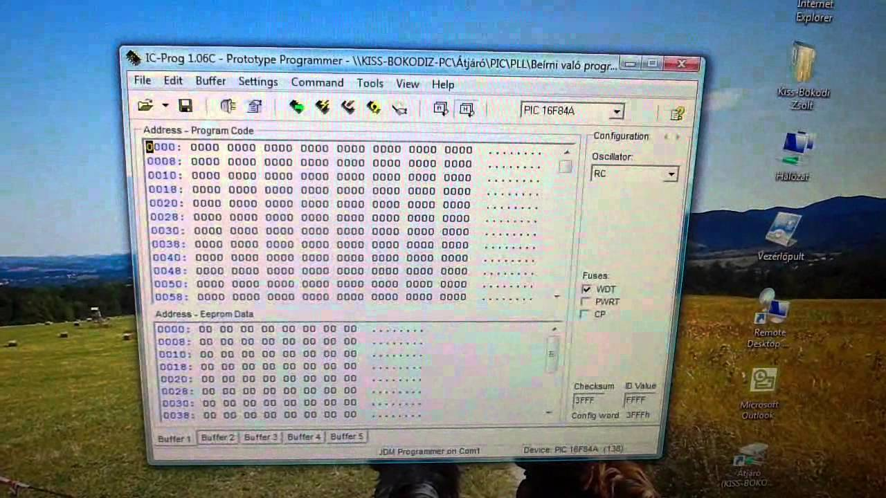 how to programming pic microcontroller simple jdm programmer with circuit  diagram