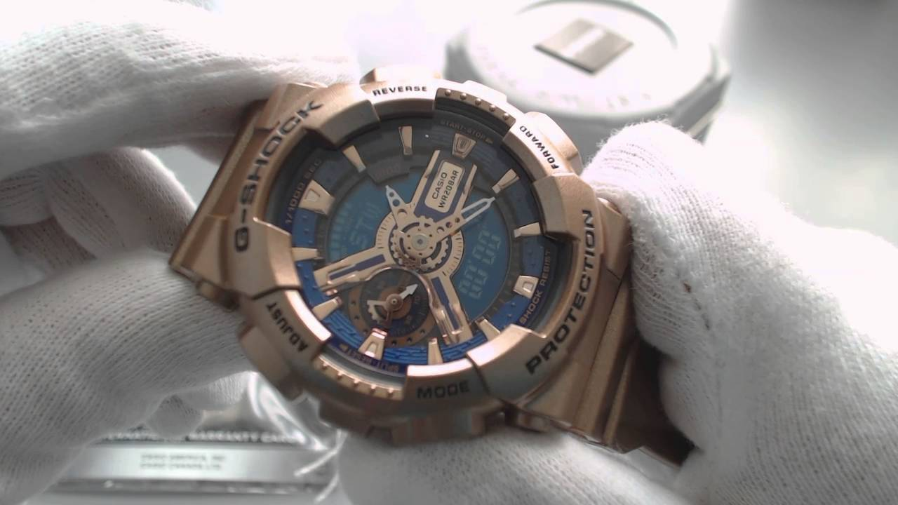 Women s Rose Gold Casio G Shock S Series Watch GMAS110GD 2A - YouTube 0ce3823c24