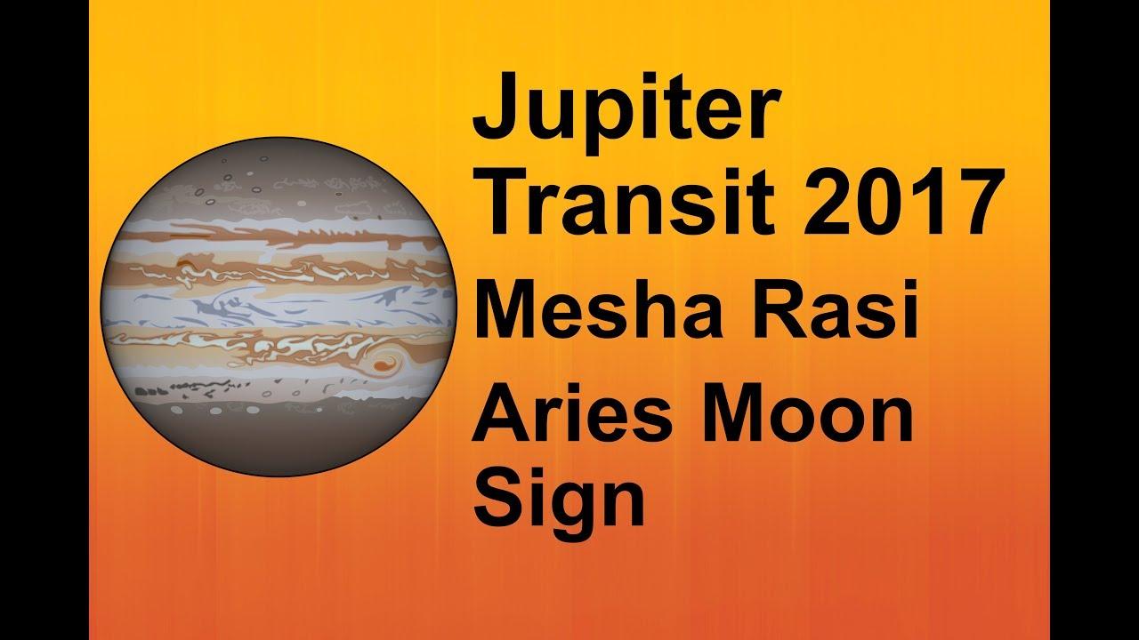 Jupiter transit 2017 mesha rasi aries moon