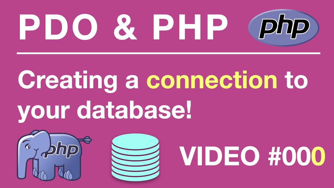 PHP & PDO MySQL PHP Data Objects