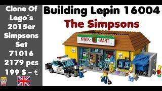 Building the Kwik-E-Mart - Lepin 16004