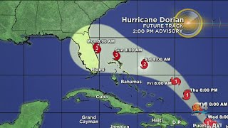 2PM Advisory: Dorian Now A Cat 1 Hurricane, Expected To Become Cat 3 Before Landfall