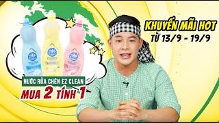 Nước rửa chén Ez Clean mua 2 chai tính tiền 1 chai (Khuyến mãi từ 13/9 - 19/9)