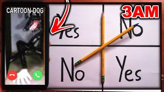 DO NOT PLAY CHARLIE CHARLIE WHEN CALLING CARTOON DOG AT 3AM!! *CARTOON CAT VS CARTOON DOG?!*