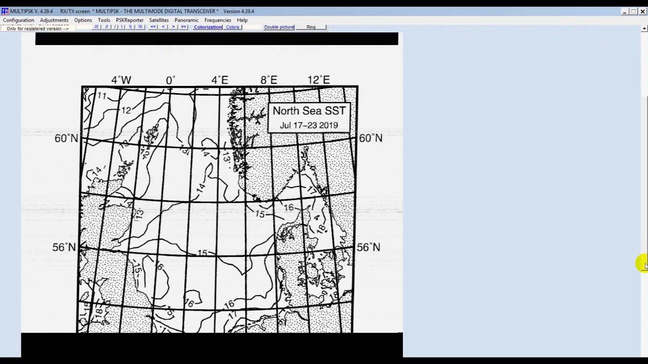 Decoding North Sea SST Facsimile from DWD (Deutscher Wetterdienst) with  Multipsk