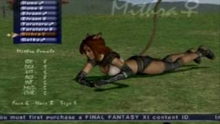 Final Fantasy XI - Mithra Character Creation