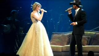 "Taylor Swift and Tim McGraw sing ""Just to See You Smile"""