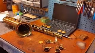 Saxophone Repair Tip: Shellac Bed in Deep Key Cups