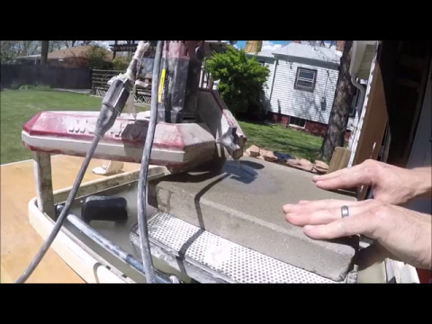 Cutting Concrete Pavers With Tile Saw