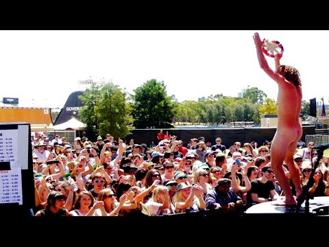 The Brow - Big Day Out 2012 (Dancing naked man stage invasion) thumbnail