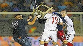 Fußballspieler vs Fans ⚽ Kämpfe auf dem Feld 2016 (HD)