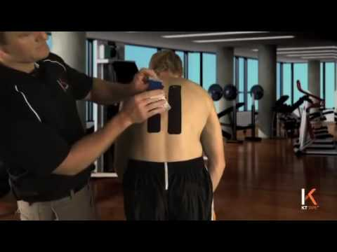KT Tape - Kinesiology Taping Instructions For Middle Back Pain