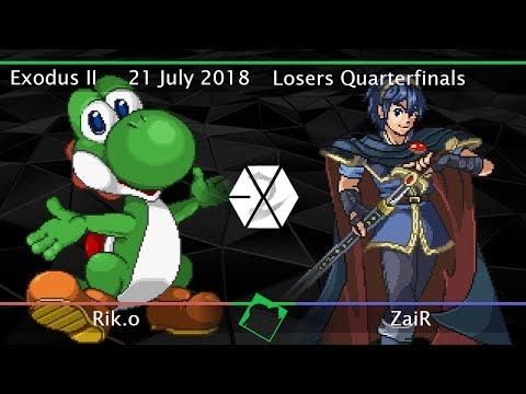 Exodus II - Rik.o (Yoshi) vs ZaiR (Marth) - SSF2 Beta Losers Quarterfinals