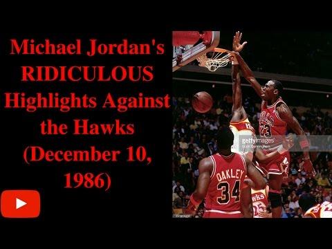 Michael Jordan's RIDICULOUS Highlights Against the Hawks (Dec 1986)