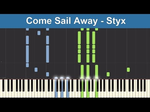 Come Sail Away - Styx - Synthesia Piano Tutorial