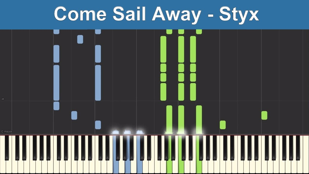 Come Sail Away Styx Synthesia Piano Tutorial Chords Chordify