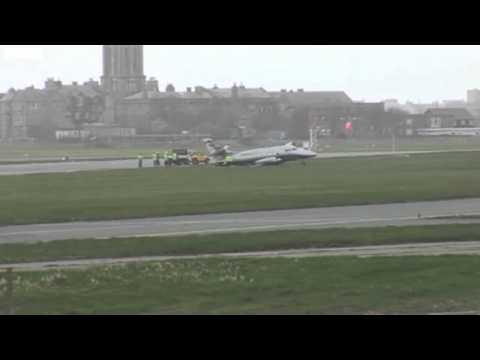 Manx2 Jetstream 31 aircraft GCCPW crash landing isle of man