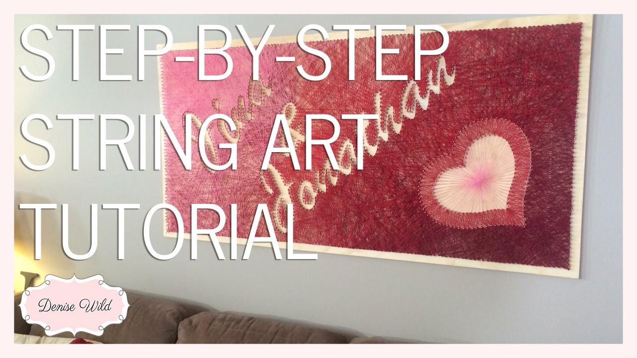 Diy string art tutorial holiday makeover makeful youtube baditri Image collections