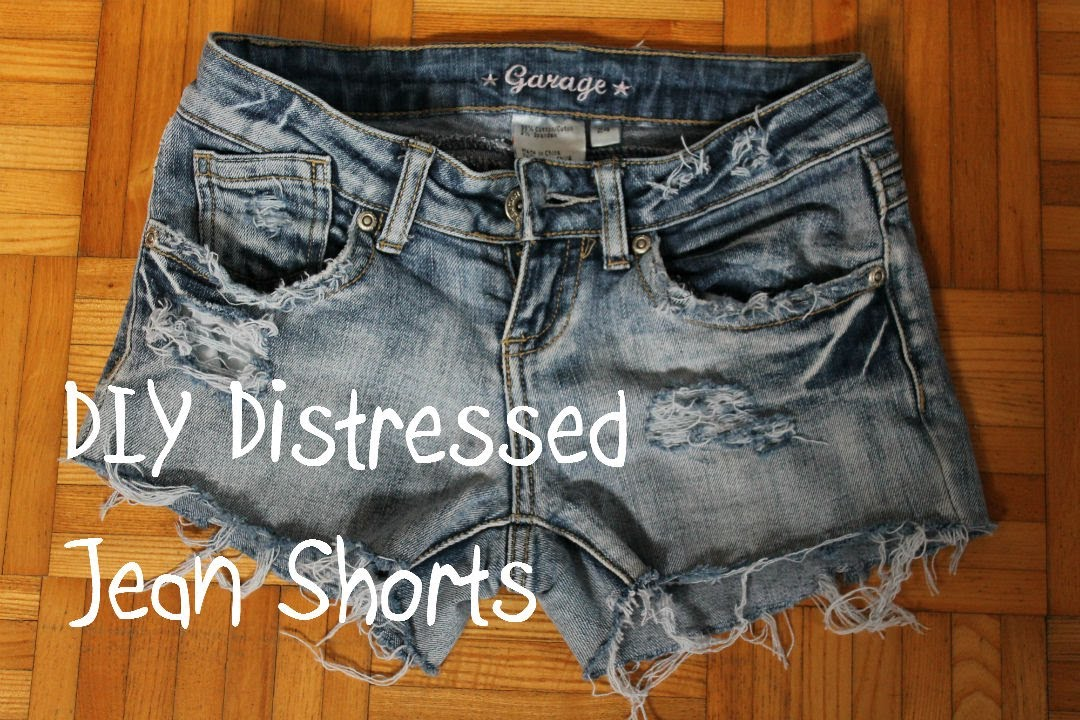 ♦DIY♦ Turn Jeans Into Distressed Jean Shorts (3 Different Ways ...