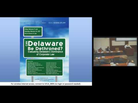Day One: Can Delaware Be Dethroned? Evaluating Delaware's Dominance of Corporate Law
